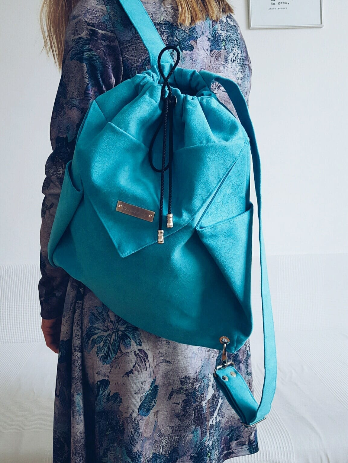 ORIGAMI Backpack_Turquoise (5)